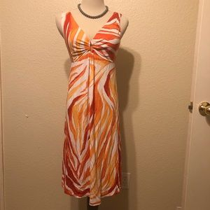 Tommy Bahama Orange and White Cloth Dress XS